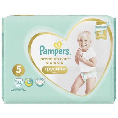 Kalhotky plenkové Premium Care Pants 5 JUNIOR 12-18kg 34ks Pampers
