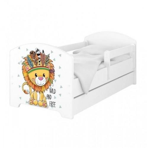BabyBoo Dětská postel 140 x 70cm -  Lev, 140x70