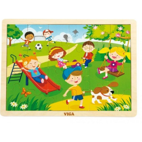 Dřevěné puzzle Roční období - JARO
