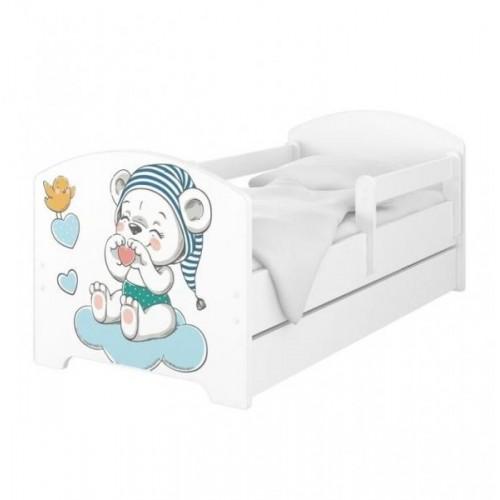 BabyBoo Dětská postel 140 x 70cm -  Medvídek s čepicí, 140x70