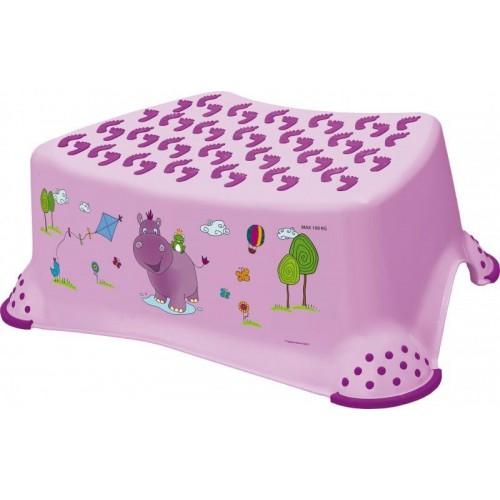 Stolička, schůdek s protiskluzovou funkcí  - Hippo - fialová