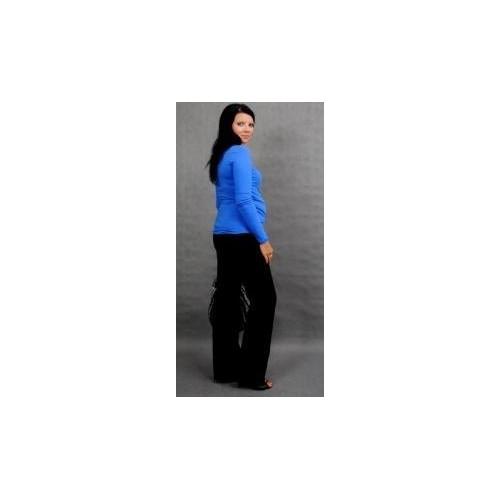 Těhotenské triko ELLIS - modrá, S/M