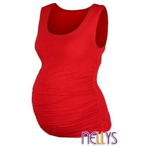 Top, tílko DANA  nejen pro těhotné  - červená, vel. L/XL, L/XL