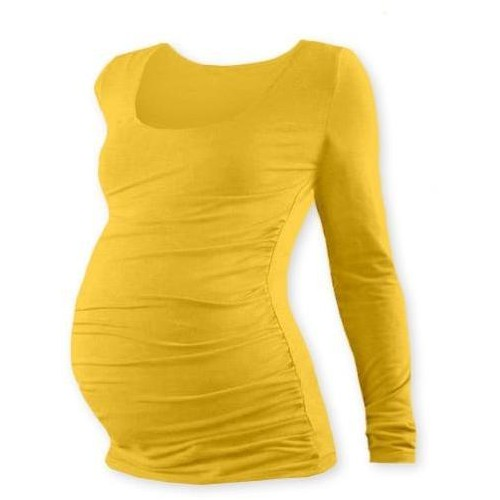 Těhotenské triko JOHANKA s dlouhým rukávem - žlutooranžová, XXL/XXXL