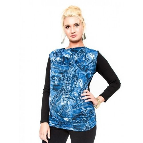 Těhotenské triko/halenka  Be MaaMaa - ZINA, L/XL