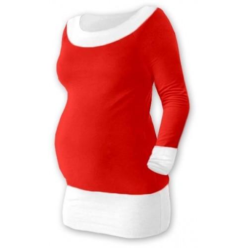 Těhotenska tunika DUO - červená/bílá, vel. L/XL, L/XL