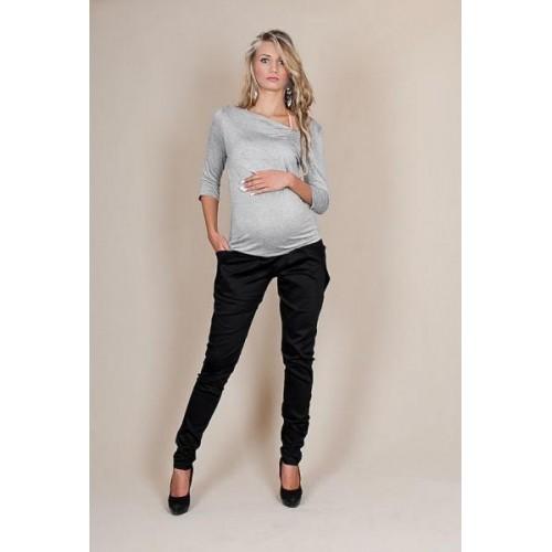 Těhotenské kalhoty ALADINKY  - Černé, L, L (40)