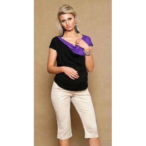 Těhotenské kalhoty ANNA  3/4  - béžové, XL (42)