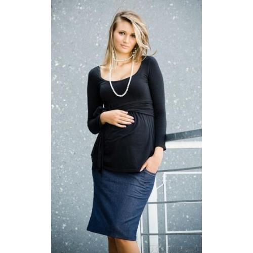 Těhotenské sukně SARA - modrá, S (36)