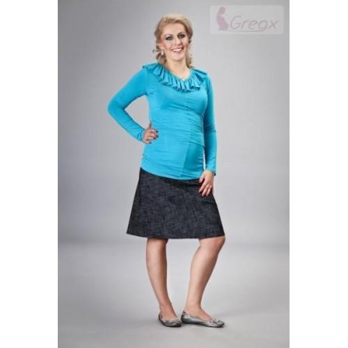 Elegantní těhotenská sukně DENIM - černá, XXXL (46)