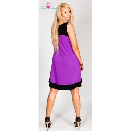 Těhotenské šaty HALINA - fialové
