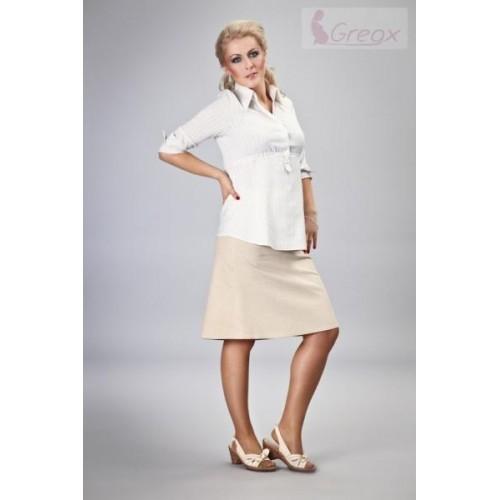 Elegantní těhotenská sukně DENIM - béžová, XL (42)