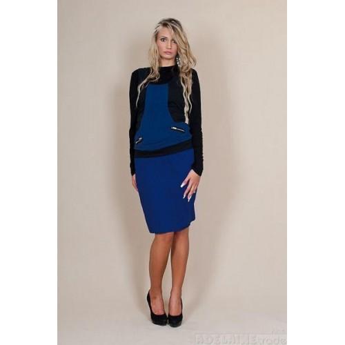 Těhotenské sukně Melanie - modrá, XL (42)