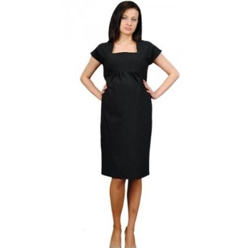 Těhotenské šaty ELA - černá, XL (42)