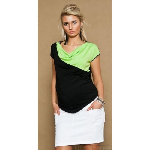 Těhotenské džínsová sukně JOANA - bílá, M (38)