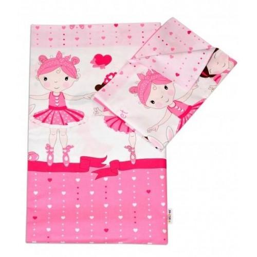 2-dílné bavlněné povlečení Princess - růžová, 120x90