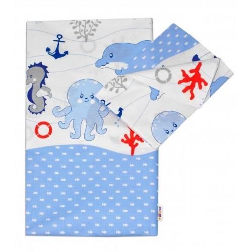 2-dílné bavlněné povlečení Oceán - modrý, 120x90
