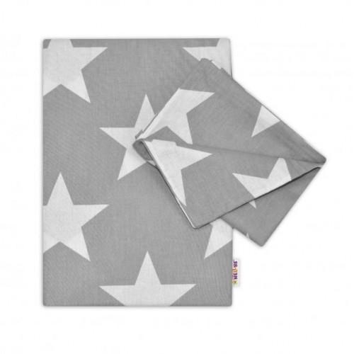 2-dílné bavlněné povlečení 135x100 - Big Stars - šedé, 135x100