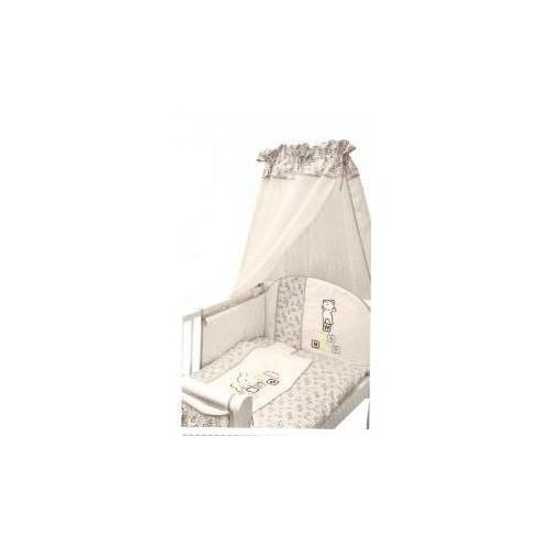 Mantinel s povlečením Medvídek kostička - šedý, 120x90
