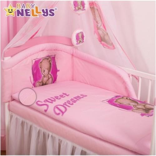 Mantinel s povlečením Sweet Dreams by Teddy - růžový, 135x100