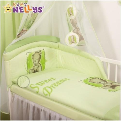 Mantinel s povlečením Sweet Dreams by Teddy - zelený, 120x90