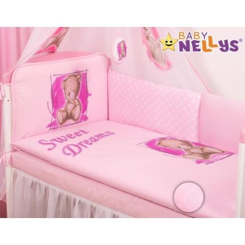 Mantinel 360cm s povlečením Sweet Dreams by Teddy - růžový, 135x100