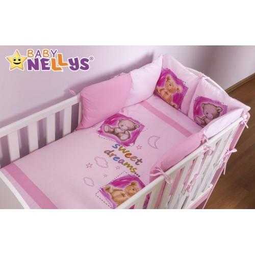 Povlečení s polštářkovým mantinelem Sweet Dreams by TEDDY - růžový, 120x90
