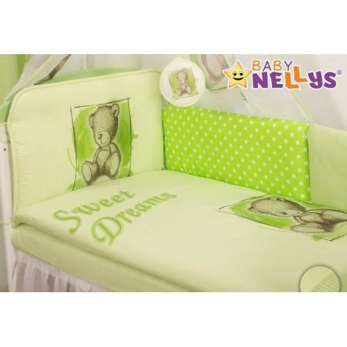 Mantinel 360cm s povlečením Sweet Dreams by Teddy - zelený, 120x90