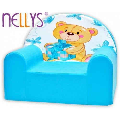 Dětské křeslo Nellys - Míša Nellys v modrém