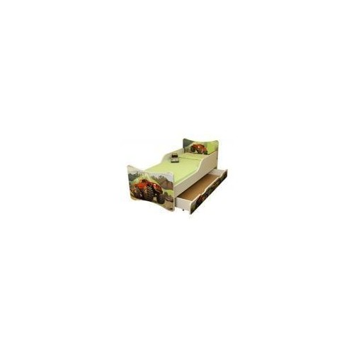 Dětská postel se zábranou a šuplík/y Auto - 200x80 cm, 200x80