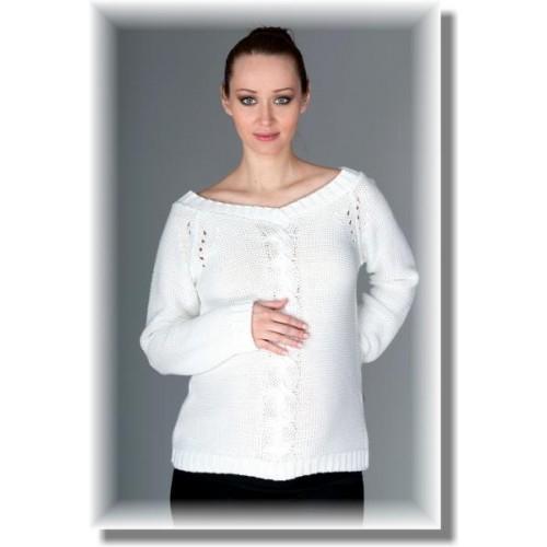Těhotenský svetřík Tia - bílý, UNI