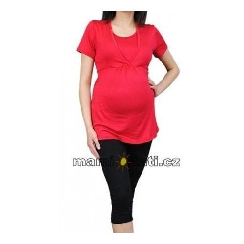 Těhotenské barevné legíny 3/4 délky - černá, vel. XL, XL (42)