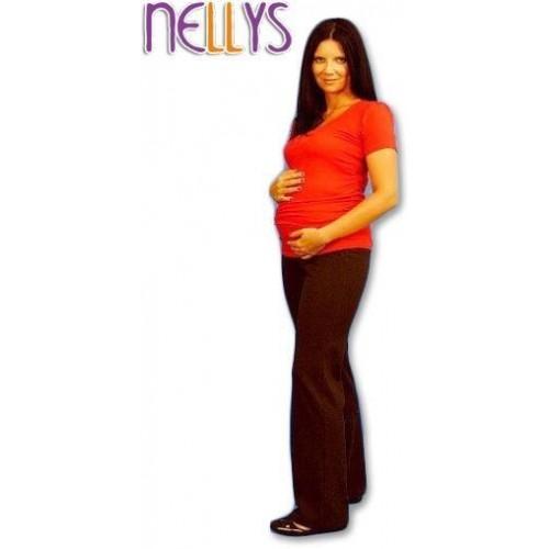 Těhotenské tepláky - hnědé, S (36)