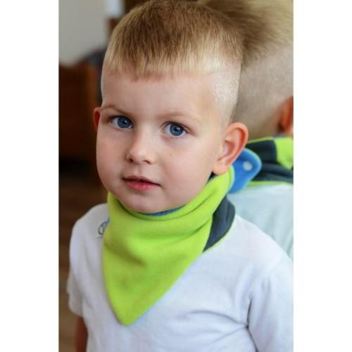 Dětský oboustranný fleecový nákrčník VG modro-limetkový Modrá Univerzální