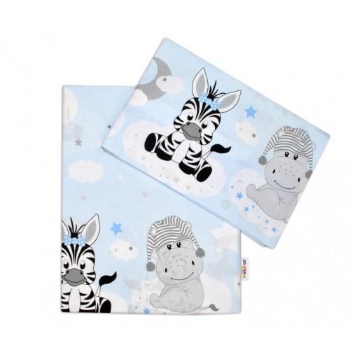 2-dílné bavlněné povlečení Safari Baby - sv. modré, 120x90