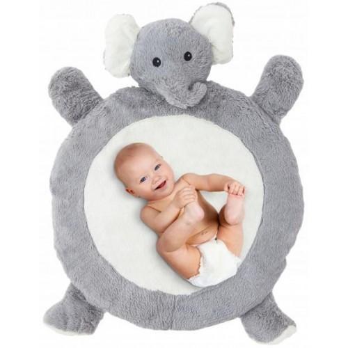 Plyšová hrací deka, podložka 67x78x5cm - Slon