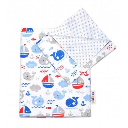 2-dílné bavlněné povlečení Oceán Baby - modré, 120x90