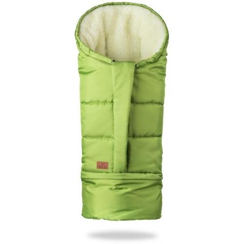 HappyBee zimní fusak Mumi 3v1 ovčí rouno zelená