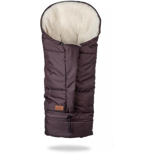 HappyBee zimní fusak Mumi 3v1 ovčí rouno hnědá