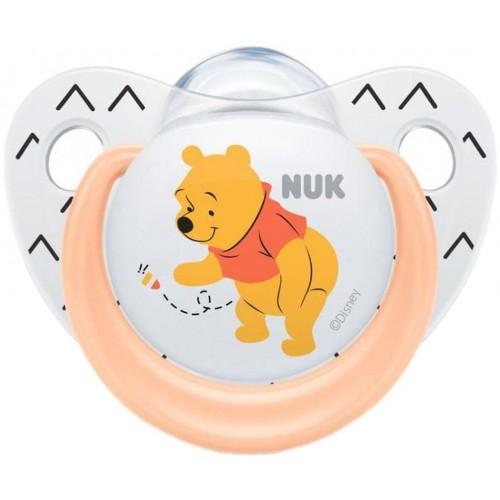 Šidítko NUK Trendline Disney Medvídek Pú 6-18m meruňkové