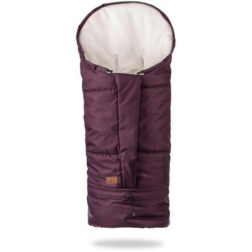 HappyBee zimní fusak  Mumi 3v1 fleece bordó