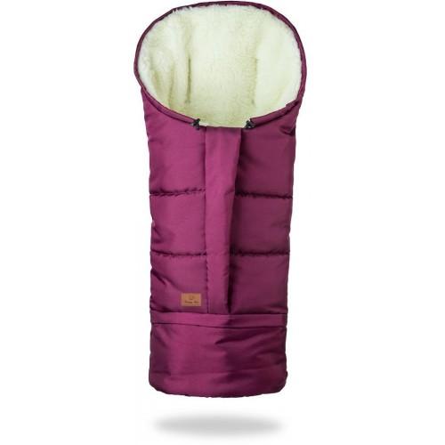 HappyBee zimní fusak Mumi 3v1 ovčí rouno bordó