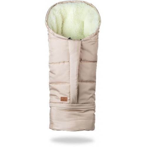 HappyBee zimní fusak Mumi 3v1 ovčí rouno béžová