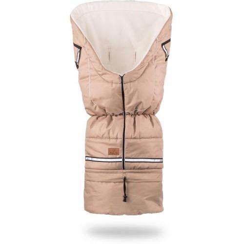 HappyBee zimní fusak Yetti 3v1 fleece béžová