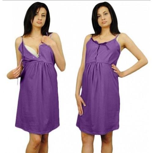 Noční košilka na ramínka  - fialová , vel. L/XL, L/XL