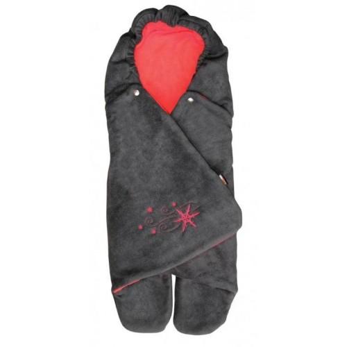 Emitex zavinovačka ZOE fleece, antracit/červená