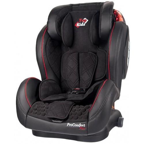 Autosedačka Top Kids Pro Comfort Plus Isofix Black 2018, černá