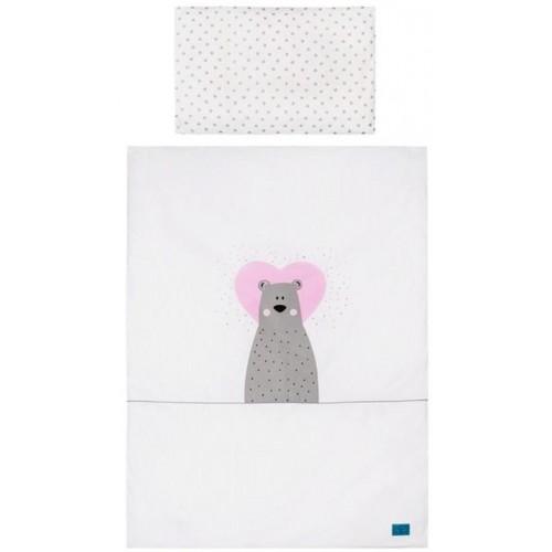 3-dílné ložní povlečení Belisima Bear in love 90/120 růžové