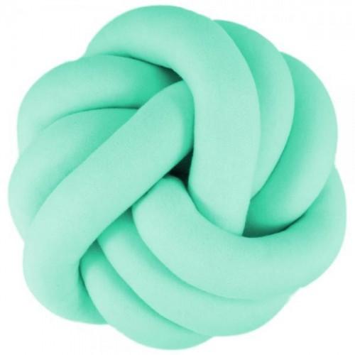 Dekorační plyšový polštář Handmade Uzlík - mátový