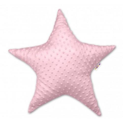 baby nellys eětský dekorační polštář, hvězdička - minky růžová